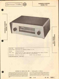 harman-kardon model t-10 am fm tuner sams photofact manual