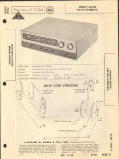 allied radio knight model kn-120 am fm tuner sams photofact manual