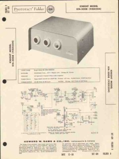 allied radio knight model kn-3008 8w amplifier sams photofact manual