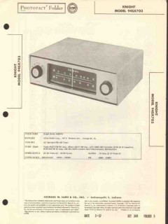 allied radio knight model 94sx703 am fm tuner sams photofact manual