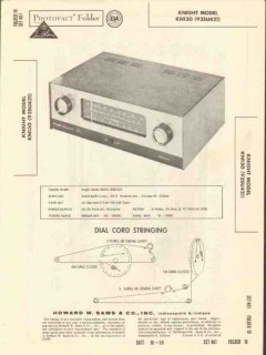 allied radio knight model kn-130 am fm tuner sams photofact manual