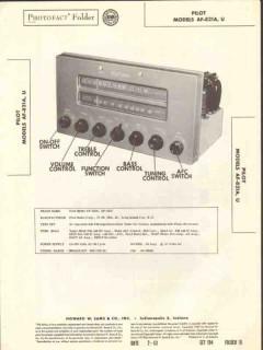 pilot radio models af-821a af-821u am fm tuner sams photofact manual