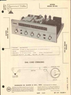 bogen model pr-100 am fm radio receiver sams photofact manual