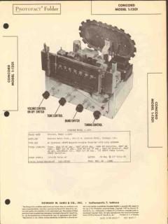 concord model 1-1201 am fm radio receiver sams photofact manual
