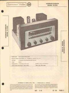 harman-kardon model d-1100 am fm radio receiver sams photofact manual