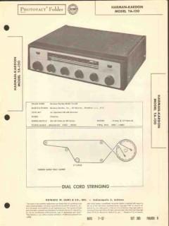 harman-kardon model ta-120 am fm receiver sams photofact manual