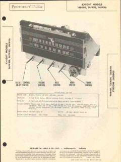 allied radio knight model 14f490 am fm receiver sams photofact manual