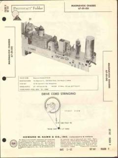 magnavox model 67-01-00 fm radio receiver sams photofact manual