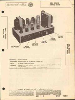 bell sound model 2200 7 channel audio amplifier sams photofact manual