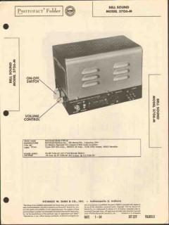 bell sound model 3706-m 2 channel 6w amplifier sams photofact manual