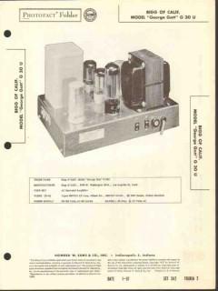 bigg of calif model george gott g-30-u amplifier sams photofact manual