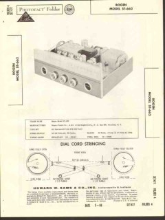 bogen presto model ds265 stereo amplifier sams photofact manual