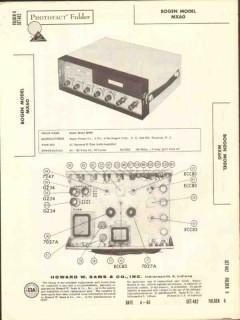 bogen presto model mx60 60 watt audio amplifier sams photofact manual