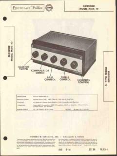 brociner model mark10 amplifier preamp equalizer sams photofact manual