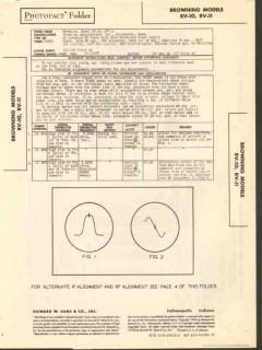 browning laboratories model rv-10 rv-11 fm tuner sams photofact manual