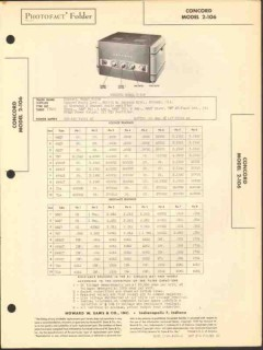 concord radio model 2-106 2 channel amplifier sams photofact manual