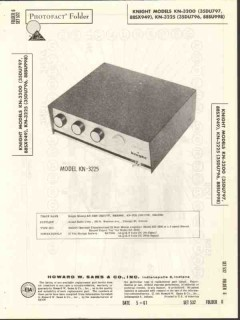 allied radio knight model kn-3225 25w amplifier sams photofact manual