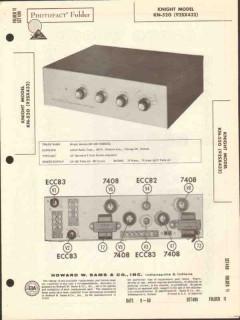 allied radio knight model kn520 stereo amplifier sams photofact manual