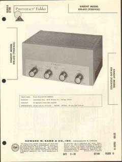 allied radio knight model kn-610 audio amplifier sams photofact manual