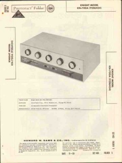 allied radio knight model kn-700a preamplifier sams photofact manual