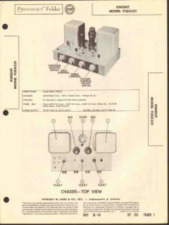 allied radio knight model 93sx321 24w amplifier sams photofact manual