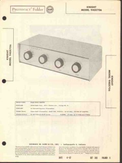 allied radio knight model 94sx706 preamplifier sams photofact manual