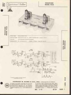 boulevard model pa25 2 tube stereo amplifier sams photofact manual