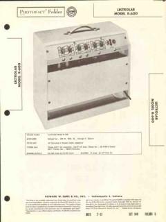 lectrolab model r-600 4 channel audio amplifier sams photofact manual