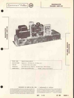 magnavox model amp-135 4 tube 10 watt amplifier sams photofact manual