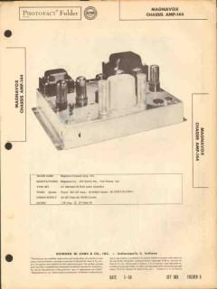 magnavox model amp-144 7 tube 20 watt amplifier sams photofact manual