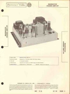 magnavox model amp-149 7 tube audio amplifier sams photofact manual