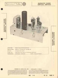 magnavox model amp-152aa 4 tube audio amplifier sams photofact manual