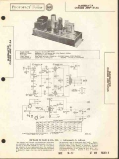 magnavox model amp-161aa 4 tube audio amplifier sams photofact manual