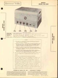 masco model ma-25hf 7 tube audio amplifier sams photofact manual
