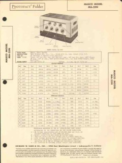 masco model ma-25n 9 tube audio amplifier sams photofact manual