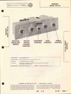 pedersen model pcp-20 6 tube 20w audio amplifier sams photofact manual