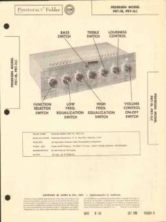 pedersen model prt-1b 6 tube audio preamplifier sams photofact manual
