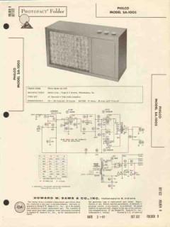 philco model sa-1005 4 tube audio amplifier sams photofact manual