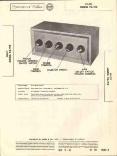pilot model pa-912 7 channel audio preamplifier sams photofact manual