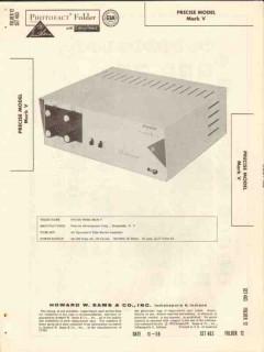 precise model mark v 8 tube stereo amplifier sams photofact manual