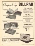 A L Seamon Company 1950 Vintage Ad Leather Billpak Wallet Bill-Klip