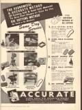 Accurate Steel Rule Die Manufacturers 1950 Vintage Ad Cutting Methods