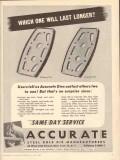 Accurate Steel Rule Die Manufacturers 1950 Vintage Ad Will Last Longer