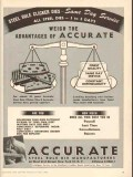 Accurate Steel Rule Die Manufacturers 1950 Vintage Ad Weigh Advantages