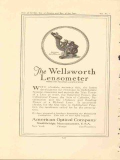 american optical company 1922 the wellsworth lensometer vintage ad