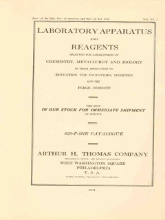 arthur h thomas company 1922 laboratory apparatus reagents vintage ad
