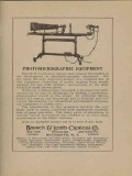 bausch lomb optical company 1922 photomicrographic vintage ad