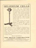 braun corporation 1922 selenium cells telephony kindred vintage ad