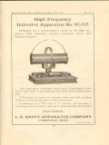 l e knott apparatus company 1922 high frequency inductive vintage ad