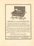 leeds northrup company 1922 macbeth illuminometer vintage ad